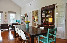 houzz dining room eclectic with gl doors chairs regarding decor 13