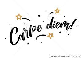 Carpe diem lettering card, banner. Beautiful... - Stock Illustration  [43725037] - PIXTA