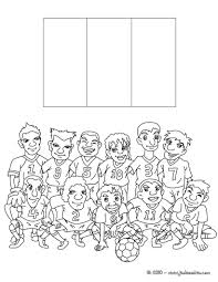 Coloriages Coloriage Equipe Foot France Fr Hellokids Com