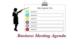Agenda Business Sample Business Meeting Agenda Format Assignment Point