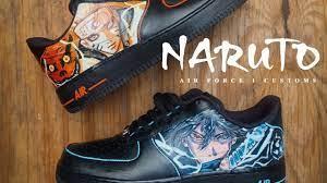 NARUTO x SASUKE ANIME Air Force 1s Sneaker Custom - YouTube