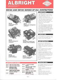 sw series of d c contactors albright international pdf sw180 series of d c contactors 1 6 pages
