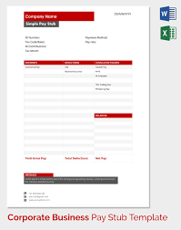 free paystub template excel download download a free pay stub template for microsoft word or excel