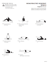 iyengar yoga insute of new york home practice sequence level 2 sequence 2 cont