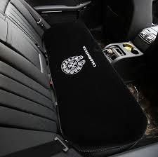 name 3pcs best plush chrome hearts car seat cushions covers universal winter auto mats sets black