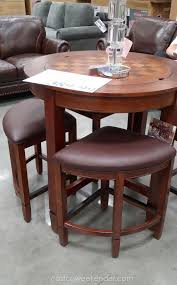 universal broadmoore flannery counter height dining set rubberwood and bonded leather