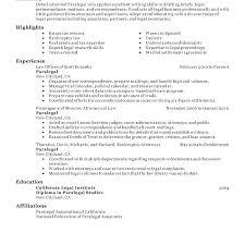 Paralegal Resume Trezvost