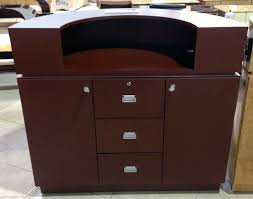 half circle aluminum burdy reception counter desk 48 spa salon restaurants