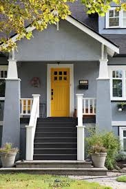 white front door yellow house. Exterior Palette Similar To Sherwin Williams Rayo De Sol Yellow Front Door. Network Gray Siding White Door House