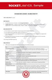 In practical effect, it is analogous to a partnership agreement. Shareholders Agreement Uk Template Make Yours For Free