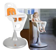 boon flair pedestal highchair w pneumatic lift  orange