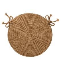 indoor outdoor braided polypro roanoke chair pad with ties