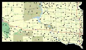highways  maps  south dakota  road maps routes  directions