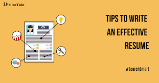 Tips For An Effective Resumes Resume Tips To Write And Effective Resume