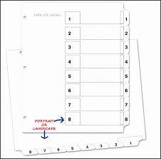 8 tab template free download sample avery big tab inserts for dividers 8 tab