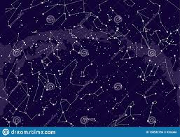 Northern Hemisphere Constellations Star Map Stock
