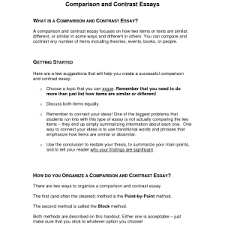 comparison contrast essay examples template ideas for compare   example of contrast essay helpful documents mrs stewarts classroom cc strategies