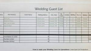 wedding list spreadsheet how to make your wedding guest list spreadsheet free download