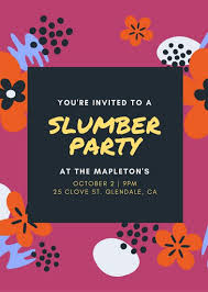 How To Make A Sleepover Invitation Customize 60 Sleepover Invitation Templates Online Canva