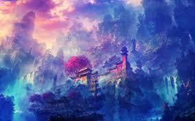 dark anime scenery wallpaper high ...