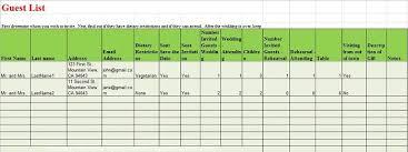 Printable Wedding Guest List Organizer 35 Beautiful Wedding Guest List Itinerary Templates