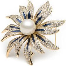 WULI & BABY <b>Copper Enamel</b> Sunflower Brooch Pins for <b>Women</b>