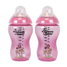 Tommee Tippee Pink Decorated Bottles Tommee Tippee Feeding Bottle Set 100ml Pink Decorated 100 Bottles 34