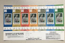 Notre Dame Football Seating Chart Rows Notre Dame Season Tickets From 1988 Were A Little Cheaper
