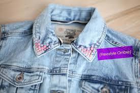 diy customized denim jackets ombre denim jacket by miss renaissance