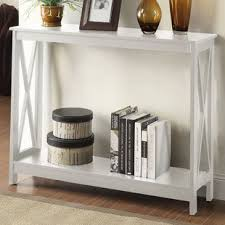 White sofa table Narrow Quickview Wayfair Off White Console Table Wayfair