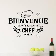 Sticker Bienvenue Cuisine Du Chef Stickers Cuisine Textes Et