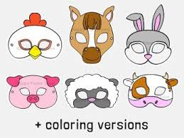 1) if you have javascript enabled you can click the print link in the top half of the page and it will automatically print the coloring page only and ignore the advertising and navigation at the top of. Farm Animal Masks Coloring Craft Printable Templates Happy Paper Time