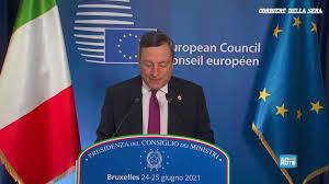 Corriere della Sera - La conferenza stampa del premier Draghi al termine  del Consiglio Europeo