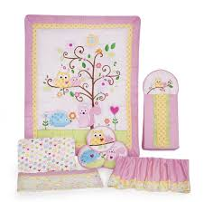 Owl Bedroom Accessories Owl Crib Bedding Sets For Girls With Regard To Your House Design Ideas