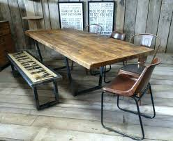 galvanized dining table industrial kitchen table wood and metal dining table galvanized pipe table legs industrial