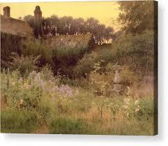 secret acrylic print featuring the painting where the forgotten garden lies asleep by georgina m de