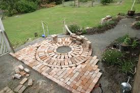herb garden rustic brick path