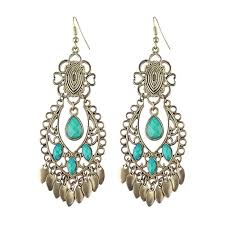 acrylic bead big chandelier earrings