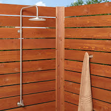 stainless steel exposed outdoor shower shower head