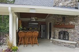 Kitchen  Stunning Design Of The Outdoor Kitchen With Silver - Outdoor kitchen countertop ideas