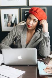 working for home office. 5-tips-for-working-from-home-beret-plaid- Working For Home Office