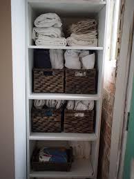 organising a small linen cupboard