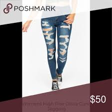 High Rise Olivia Curvy Jeans Jeggings Brand New Nwt In