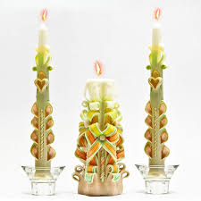 Designer Candles Wholesale India Amazon Com Beige White Green Yellow And Orange Carved