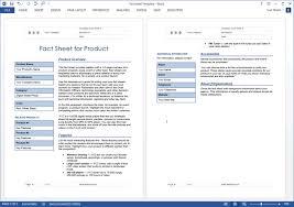Fact Sheet Template Microsoft Word Fact Sheet Templates Microsoft Word Magdalene Project Org