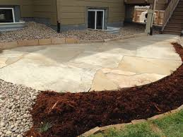 Small Picture Colorado Buff Flagstone patio with really large pieces Installed