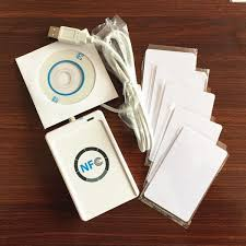 <b>ACR122U</b> RFID <b>13.56mhz</b> smart IC <b>NFC</b> copier & Writer + 5 PCS ...