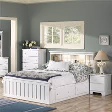Lang Bedroom Furniture Lang Shaker Full Queen Bookcase Headboard With Lights A1