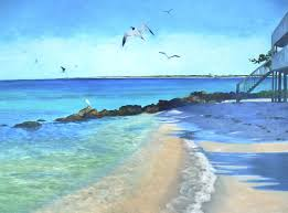 oil painting on canvas beach at oro pesos 18x24 seascape