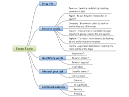 essay topic template mind map